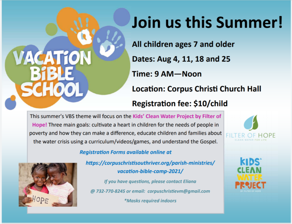 Sign up for Vacation Bible School